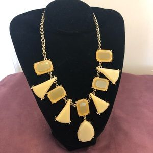 Cream and gold statement necklace